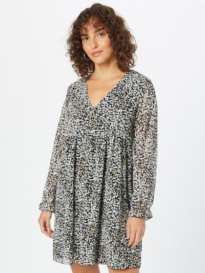 Hailys Kleid 'Silvia' in hellblau / gelb / schwarz, Modelansicht