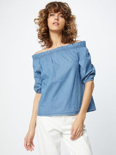 Eight2Nine Bluse in blue denim, Modelansicht