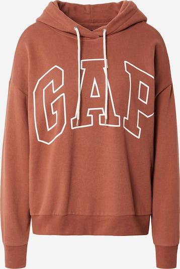 GAP Sweat-shirt en marron / blanc, Vue avec produit
