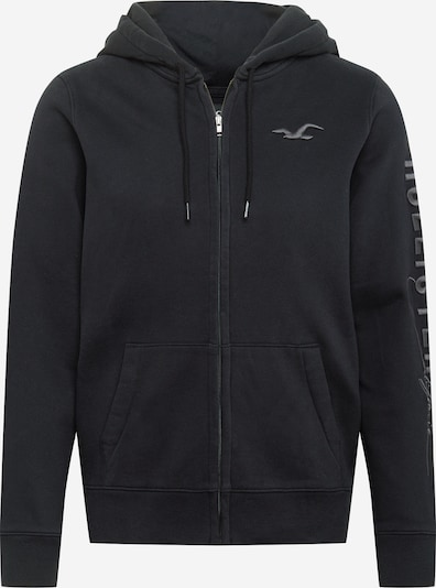 HOLLISTER Sweat jacket in grey / black, Item view