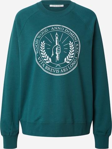 WOOD WOOD Sweatshirt 'Hope Seal' in Green