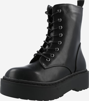 rubi Lace-Up Ankle Boots in Black