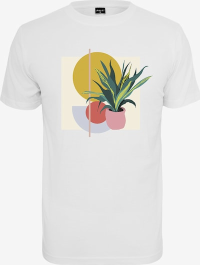 Merchcode T-Shirt 'Planet Art' in gelb / grün / weiß: Frontalansicht