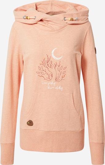 Bluză de molton 'ANGELINA' Ragwear pe portocaliu piersică / roșu vin / alb, Vizualizare produs