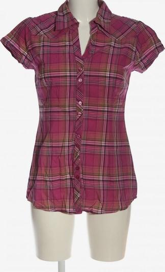 Gina Kurzarmhemd in M in pastellgelb / pink / weiß, Produktansicht
