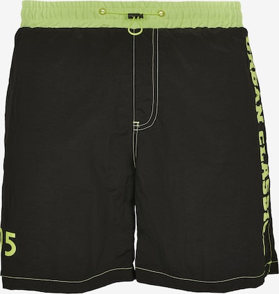 Urban Classics Shorts de bain en vert fluo / noir, Vue avec produit