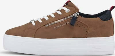 TOM TAILOR DENIM Sneaker in marine / braun / rot / weiß, Produktansicht