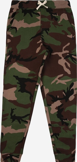 POLO RALPH LAUREN Trousers in khaki / grass green / black, Item view