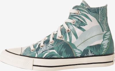 CONVERSE Baskets hautes en vert / noir / blanc, Vue avec produit
