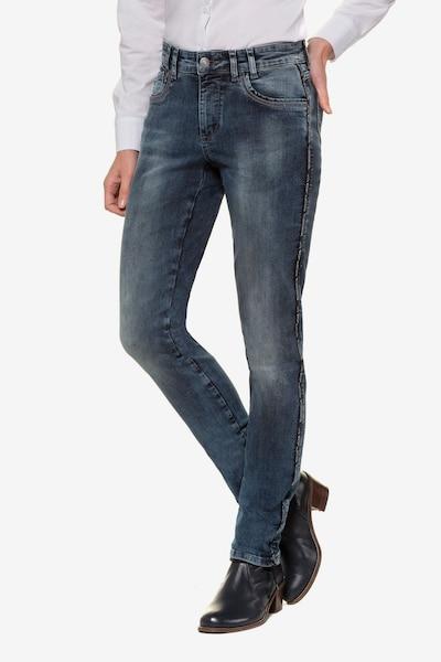 Gina Laura Jeans in blue denim, Modelansicht
