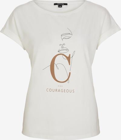 COMMA Jerseyshirt mit Statement-Wording in weiß, Produktansicht