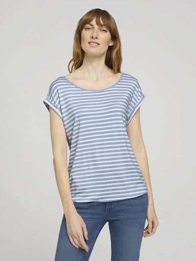 TOM TAILOR Shirt in de kleur Lichtblauw / Wit: Vooraanzicht