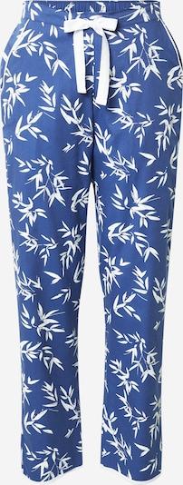 Cyberjammies Pantalon de pyjama 'Libby Bamboo Leaf Print Pant' en bleu foncé / blanc, Vue avec produit