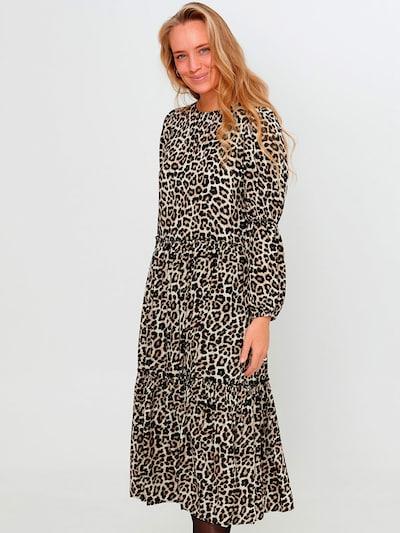 Noella Kleid 'Ciello' in beige / braun / schwarz, Modelansicht