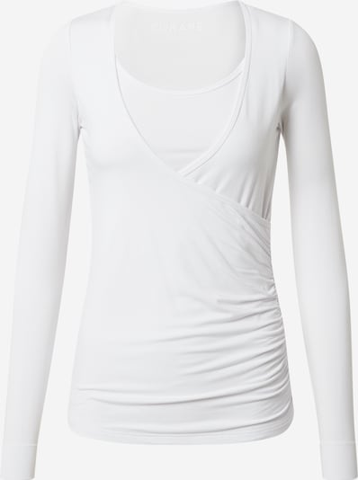 CURARE Yogawear Wrap-Shirt in weiß, Produktansicht