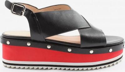 ZARA Plateau-Sandalen in 38 in rot / schwarz, Produktansicht