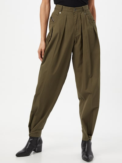 DIESEL Pleat-front trousers 'P-JO-A' in Khaki, View model
