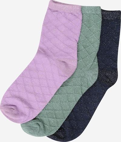 BeckSöndergaard Socken in blau / grün / lavendel, Produktansicht