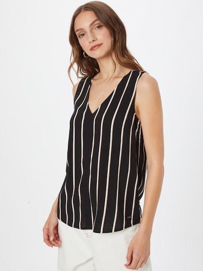 TOM TAILOR DENIM Bluza u boja devine dlake (camel) / crna / bijela, Prikaz modela