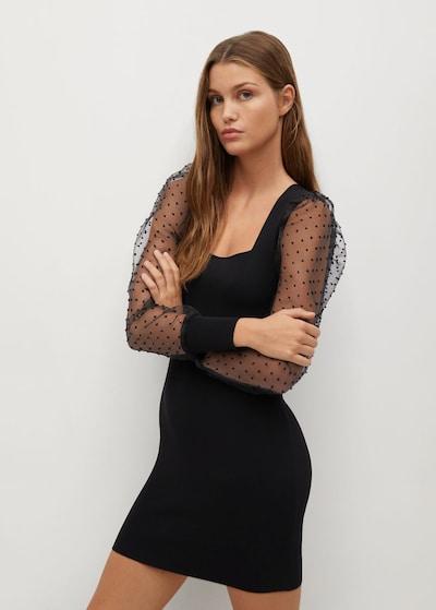 MANGO Večerné šaty 'Lacy' - čierna, Model/-ka