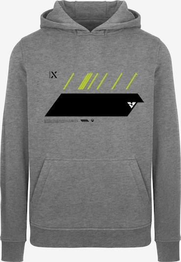 ABOUT YOU x XBOX Sweatshirt 'X Future' in neongelb / graumeliert / schwarz / weiß, Produktansicht