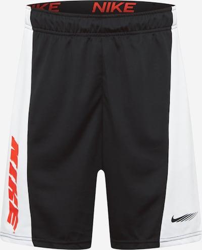 NIKE Spodnie sportowe w kolorze neonowa pomarańcza / czarny / białym, Podgląd produktu