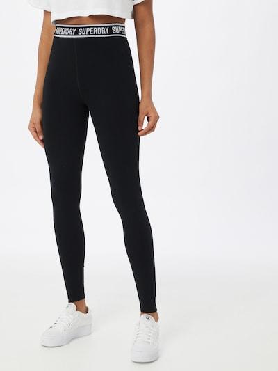 Superdry Leggings in Black / White, View model