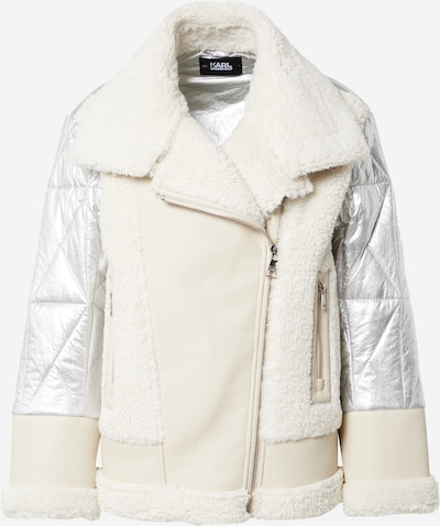 Giacca invernale Karl Lagerfeld di colore crema / grigio argento, Visualizzazione prodotti