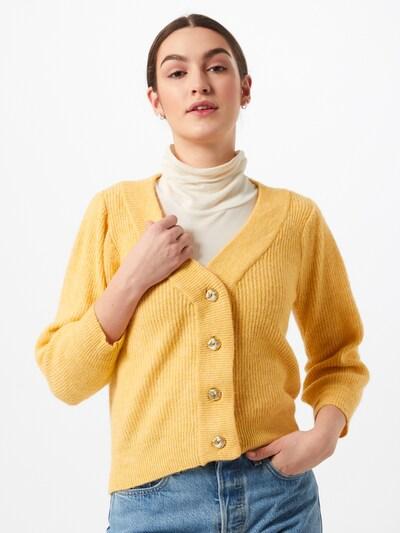 VERO MODA Strickjacke 'KLAUDIA' in gelb, Modelansicht