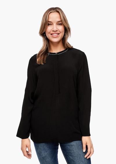TRIANGLE Bluse in schwarz, Modelansicht