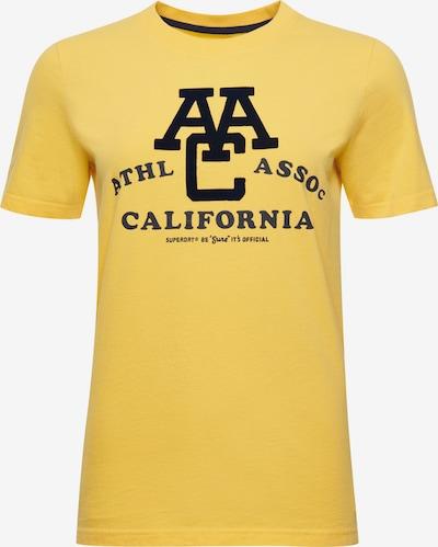 Superdry Shirt 'Athletic Association California' in gelb / schwarz, Produktansicht