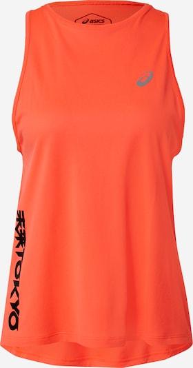 ASICS T-shirt fonctionnel 'FUTURE TOKYO' en gris / rouge orangé / noir, Vue avec produit