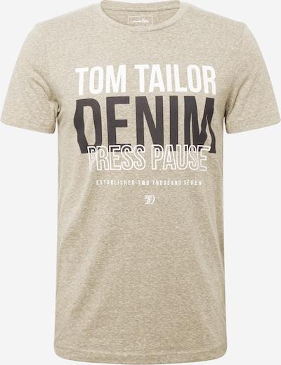 TOM TAILOR DENIM T-Shirt in oliv / schwarz / offwhite, Produktansicht