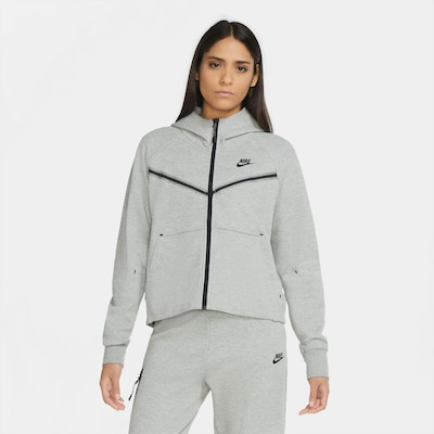 Nike Sportswear Sweatjacke in anthrazit / graumeliert: Frontalansicht
