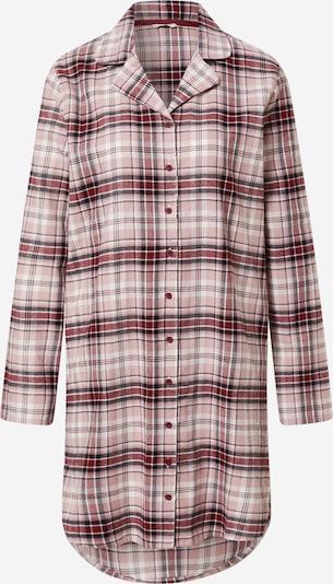 ESPRIT Spalna srajca | roza / rdeča / črna barva, Prikaz izdelka