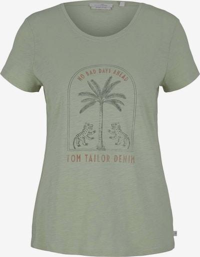 TOM TAILOR DENIM Särk mündiroheline / valge, Tootevaade