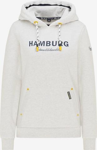 Schmuddelwedda Sweatshirt 'Hamburg' in White