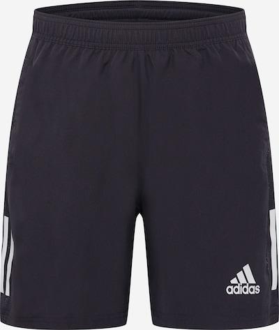 Pantaloni sport 'OWN THE RUN' ADIDAS PERFORMANCE pe negru / alb, Vizualizare produs