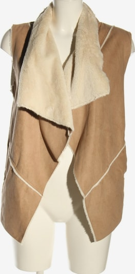 Bershka Kunstfellweste in S in creme / braun, Produktansicht