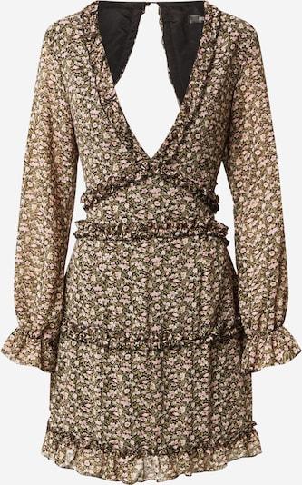 Missguided Kleid in khaki / rosa / pastellpink / schwarz, Produktansicht