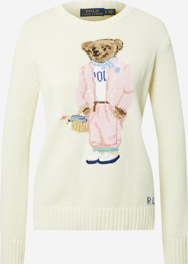 POLO RALPH LAUREN Sweater in Light beige / Mixed colours, Item view