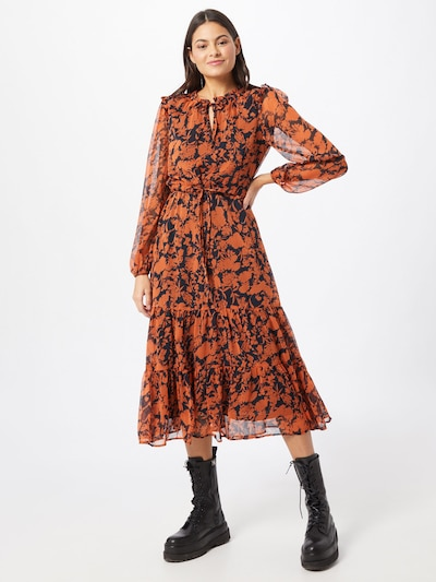 ONLY Kleid 'Emma' in orange / schwarz, Modelansicht