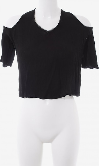 Pull&Bear Cut-Out-Top in M in schwarz: Frontalansicht