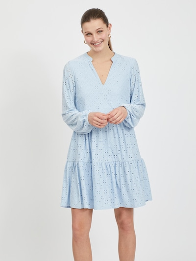 VILA Vestido 'Kawa' en azul claro, Vista del modelo