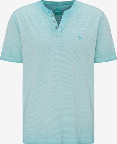PIONEER T-Shirt 'Henley' in türkis, Produktansicht
