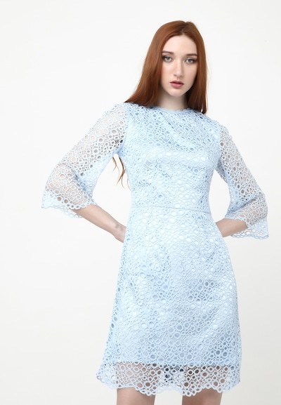 Madam-T Sommerkleid 'SONATERA' in blau / hellblau, Modelansicht