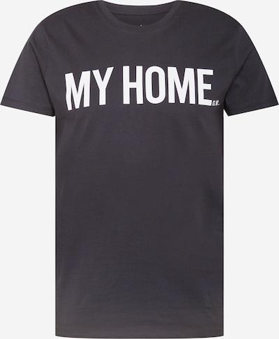 Tricou Herrlicher pe negru / alb, Vizualizare produs