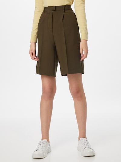 Fashion Union Pantalón de pinzas 'TAI' en caqui, Vista del modelo