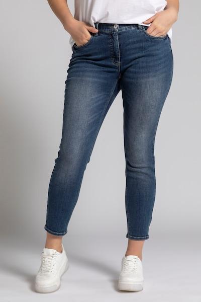 Studio Untold Jeans in blue denim, Modelansicht