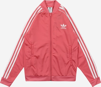ADIDAS ORIGINALS Sweat jacket in pink / white, Item view